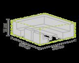 DistriCover Loungeset hoes 250x250x75 cm_