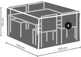 DistriCover tuinmeubelhoes tuinset (voor tafel van 160 cm, incl. 4 stoelen)_