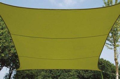 ZONNEZEIL / SCHADUWDOEK - VIERKANT - 5 x 5 m - KLEUR: LICHTGROEN