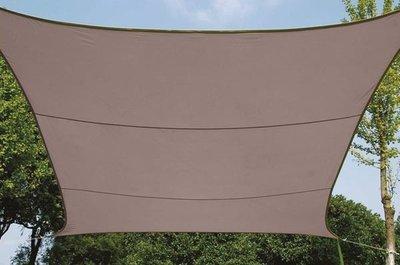 ZONNEZEIL / SCHADUWDOEK - VIERKANT - 5 x 5 m - KLEUR: TAUPE