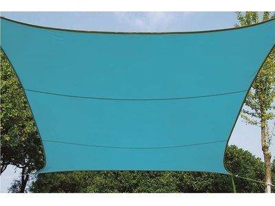 ZONNEZEIL / SCHADUWDOEK - VIERKANT - 5 x 5 m - KLEUR: HEMELSBLAUW