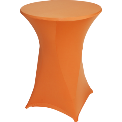Easyfit statafelrok, stretch, oranje Ø80cm