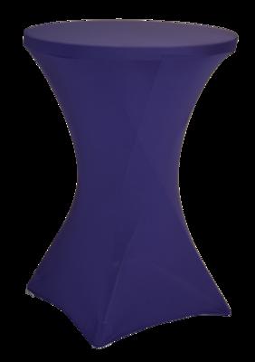Easyfit statafelrok, stretch, paars Ø80cm
