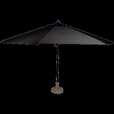 Parasol Virgo zwart Ø4mtr