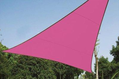 ZONNEZEIL / SCHADUWDOEK - DRIEHOEK - 5 x 5 x 5 m - KLEUR: FUCHSIA