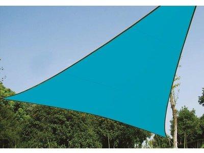 ZONNEZEIL - DRIEHOEK / SCHADUWDOEK - 5 x 5 x 5 m - KLEUR: HEMELSBLAUW