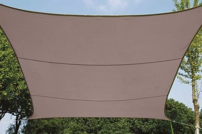 ZONNEZEIL / SCHADUWDOEK - VIERKANT - 3.6 x 3.6 m - KLEUR: TAUPE