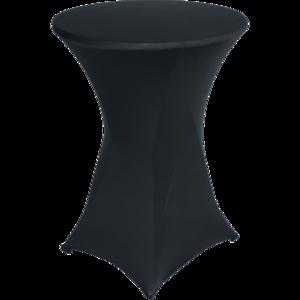 Easyfit statafelrok, stretch, zwart Ø80cm